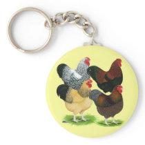 Wyandotte:  Rooster Assortment Keychain