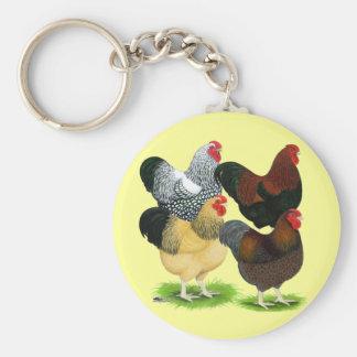 Wyandotte Rooster Assortment Keychain