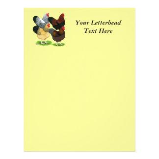 Wyandotte:  Rooster Assortment Customized Letterhead
