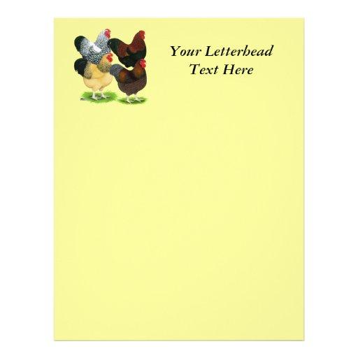 Wyandotte:  Rooster Assortment Letterhead