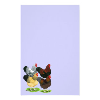 Wyandotte:  Rooster Assortment Personalized Stationery