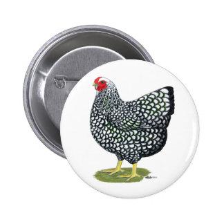 Wyandotte Silver-laced Hen Pinback Button