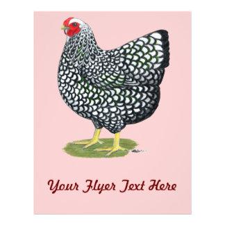 Wyandotte Silver-laced Hen Flyers