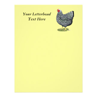 Wyandotte Silver-laced Hen Letterhead Template