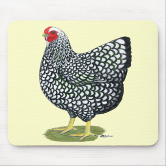 Wyandotte:  Silver-laced Hen Mouse Pad