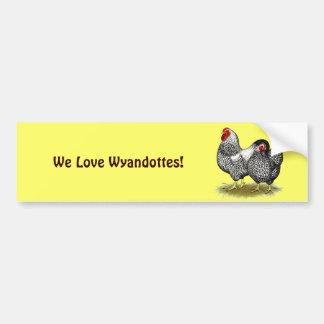 Wyandotte:  Silver Pair Bumper Sticker