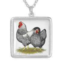 Wyandotte:  Silver Pair Silver Plated Necklace