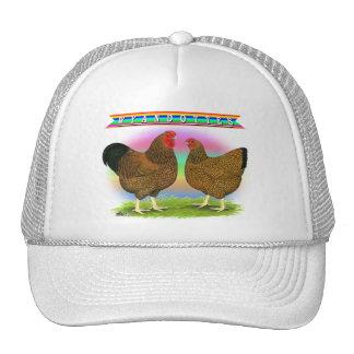 Wyandottes:  Golden-laced Rainbow Trucker Hat