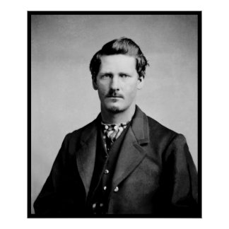 Wyatt Earp American Lawmen Old West Portrait Poster