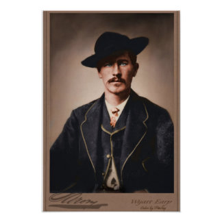 Wyatt Earp colorized Poster
