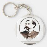 Wyatt Earp Old West Basic Round Button Keychain