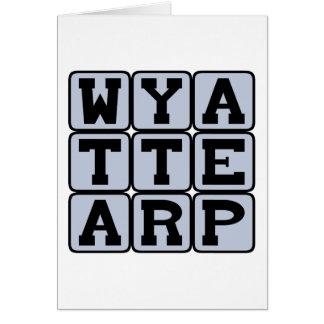 Wyatt Earp, representante de la ley del oeste Tarjeta De Felicitación