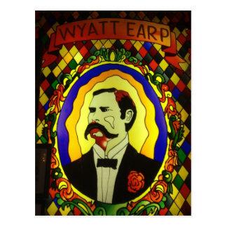 Wyatt Earp Stained Glass Postcard