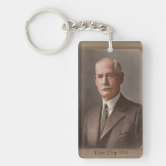 Wyatt Earp, Young and Old Keychain