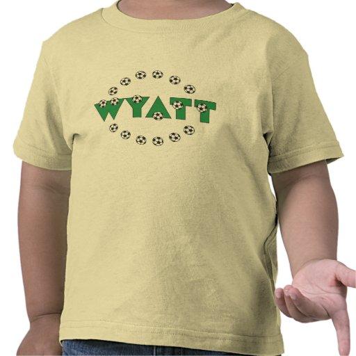 Wyatt en verde del fútbol camiseta