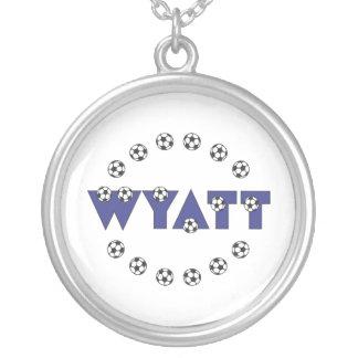Wyatt in Soccer Blue Necklace