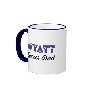 Wyatt in Soccer Blue Ringer Coffee Mug