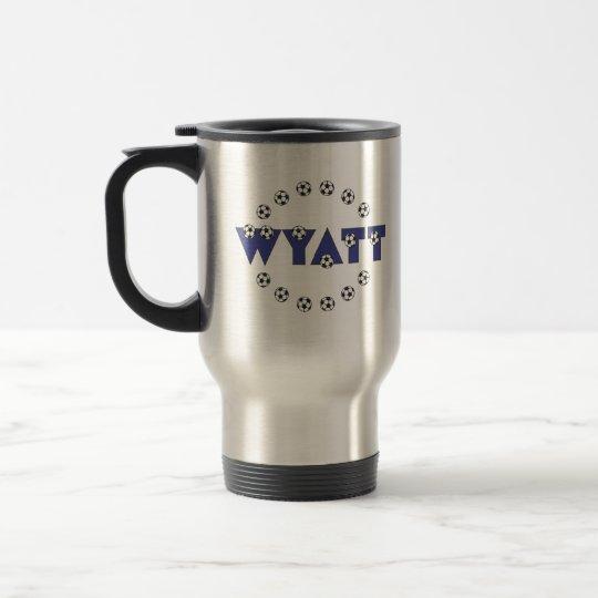 Wyatt in Soccer Blue Travel Mug