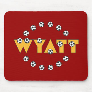Wyatt in Soccer Gold Mouse Pad
