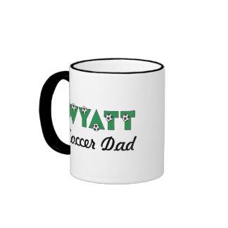 Wyatt in Soccer Green Ringer Coffee Mug