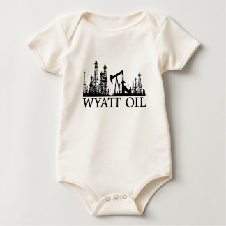 Wyatt Oil / Baby / Black Logo Baby Bodysuit