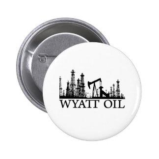 Wyatt Oil / Black Logo 2 Inch Round Button