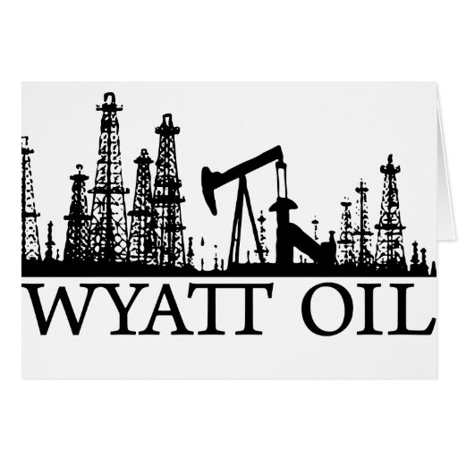 Wyatt Oil / Black Logo Greeting Card
