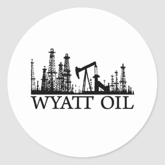 Wyatt Oil / Black Logo Classic Round Sticker