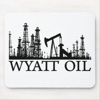 Wyatt Oil / Black Logo Mouse Mats