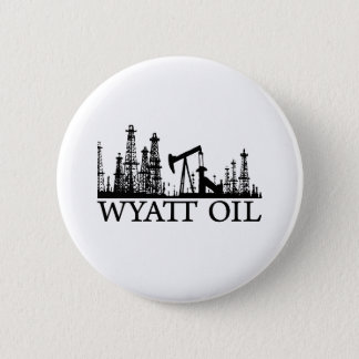 Wyatt Oil / Black Logo Pinback Button