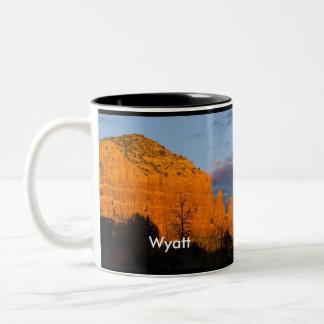 Wyatt on Moonrise Glowing Red Rock Mug