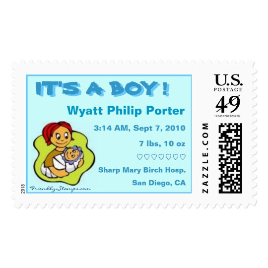 Wyatt Philip Porter birth stamp 2