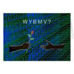 ¿WYBMV?  Tarjetas de la tarjeta del día de San Val