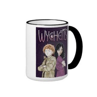Wychetts Mug- Bryony and Edwin Arms Folded Ringer Mug