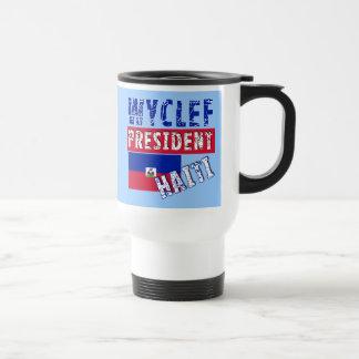 WYCLEF President Haiti Tshirts, Mugs, Buttons Travel Mug
