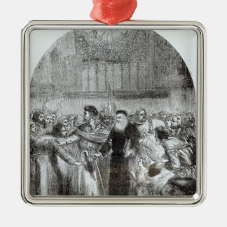 Wycliffe appearing before the Prelates Metal Ornament