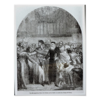 Wycliffe appearing before the Prelates Poster