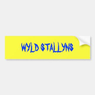 WYLD STALLYNS CAR BUMPER STICKER