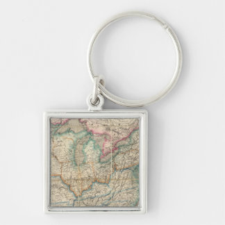 Wyld's Military Map Of The United States Keychain