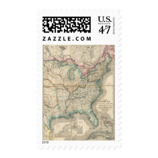 Wyld's Military Map Of The United States Postage