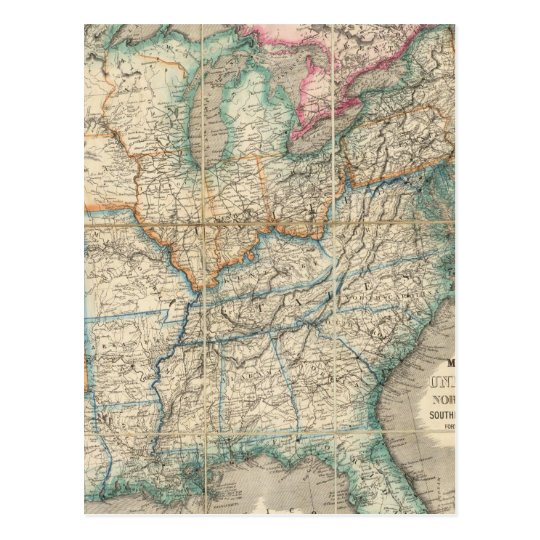 Wyld's Military Map Of The United States Postcard