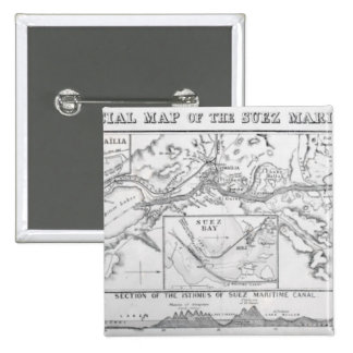 Wyld's Official Map of the Suez Maritime Canal Pinback Button