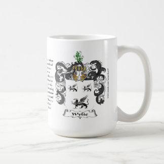 Wylie, el origen, el significado y el escudo taza de café