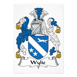 Wylie Family Crest Personalized Announcement