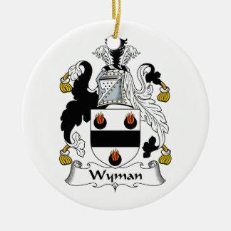 Wyman Family Crest Ornament