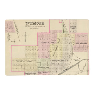 Wymore and Filley, Nebraska Placemat