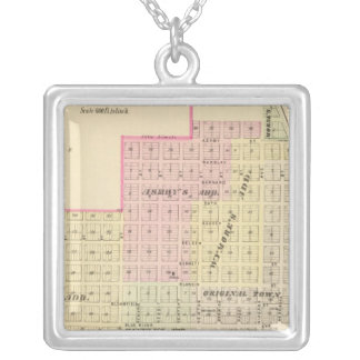 Wymore and Filley, Nebraska Square Pendant Necklace