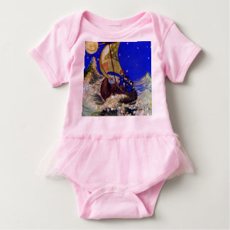 Wynken Blynken and Nod Sailing Under the Stars Baby Bodysuit