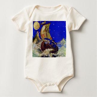 Wynken Blynken y poesía infantil del cabeceo Body Para Bebé