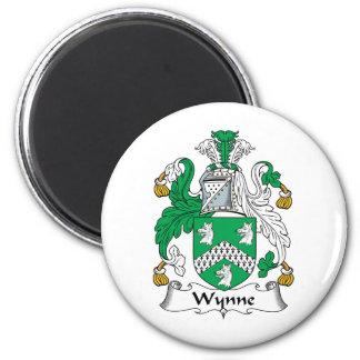 Wynne Family Crest 2 Inch Round Magnet